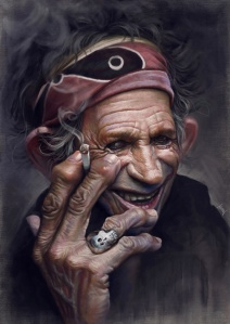 Keith Richards by Tiago Hoisel