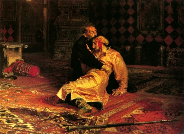 Ilya Repin.  Ivan the Terrible and His Son Ivan on November 16, 1581