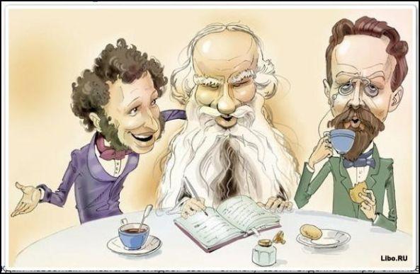 Alexander Pushkin, Leo Tolstoy, Anton Chekhov