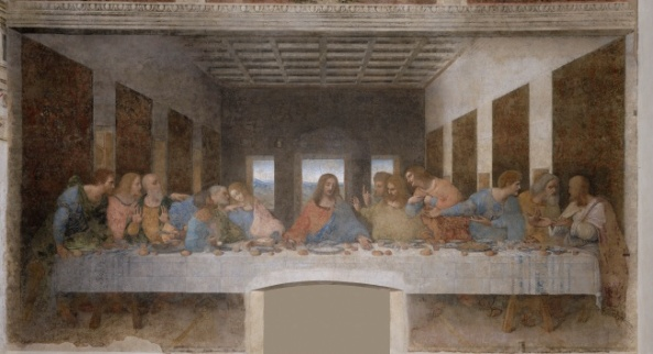 Leonardo da Vinci. The Last Supper (Il Cenacolo or L'Ultima Cena)