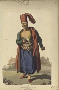 A member of Ottoman corps of  gardener-executioners.