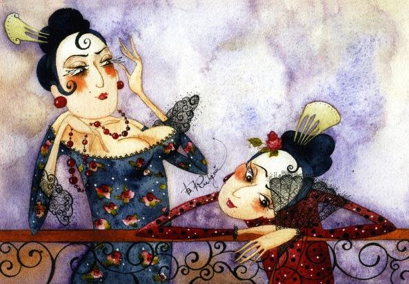 Watercolor of Victoria Kirdiy