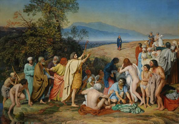A. Ivanov (1806—1858) The Appearance of Christ to the People.
