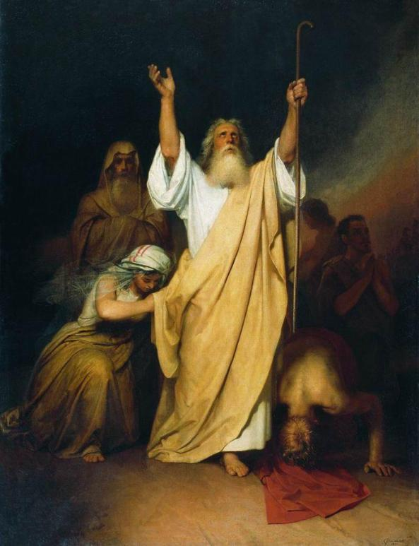 I. Kramskoi (1863-1938) Prayer of Moses after the Israelites crossed the Red Sea