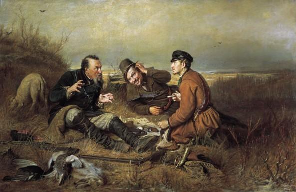 V. Petrov (1834-1882) Hunters Resting