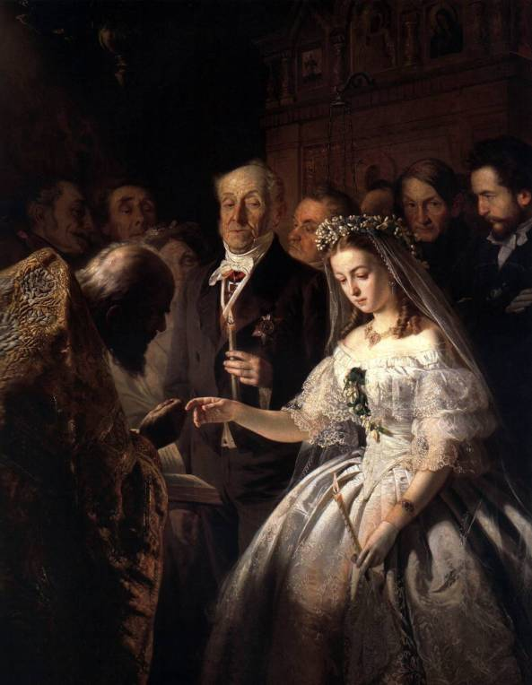 V. Pukirev (1832–1890) Unequal Marriage.