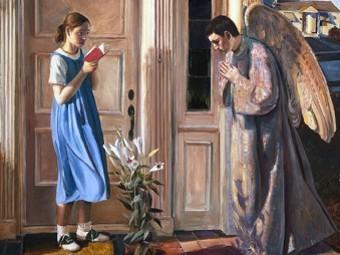 John Collier. Annunciation (fragment)