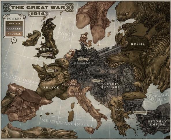 карта-мира-art-Первая-мировая-песочница