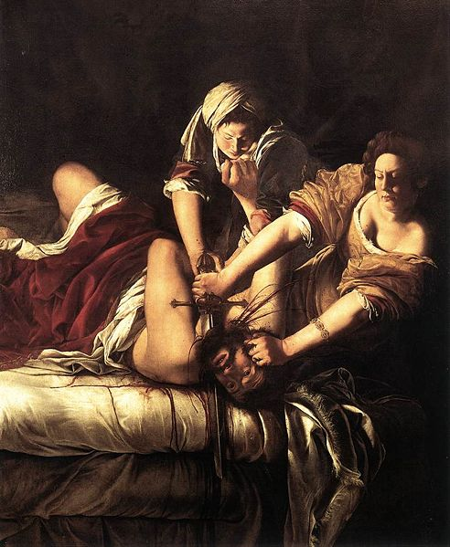 Artemisia Gentileschi. Judith Slaying Holofernes. (c. 1620.Uffizii)