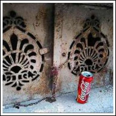 One of many unorthodox uses of Coca Cola is rust removal. Works on metal, fabric and other material