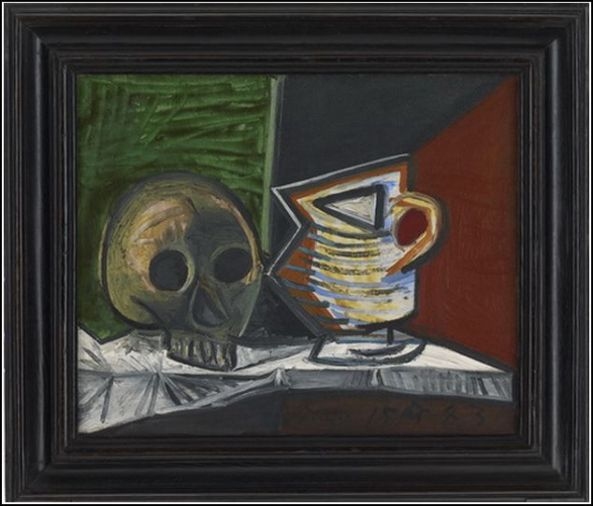 Pablo Picasso. Nature morte au crâne et au pot. 1943. Oil on canvas. © Succession Picasso / DACS, London 2012. Photography credit: Prudence Cuming Associates Ltd