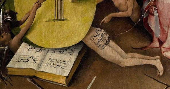 Fragment of Hieronymus Bosch's painting The Garden of Earthly Delights