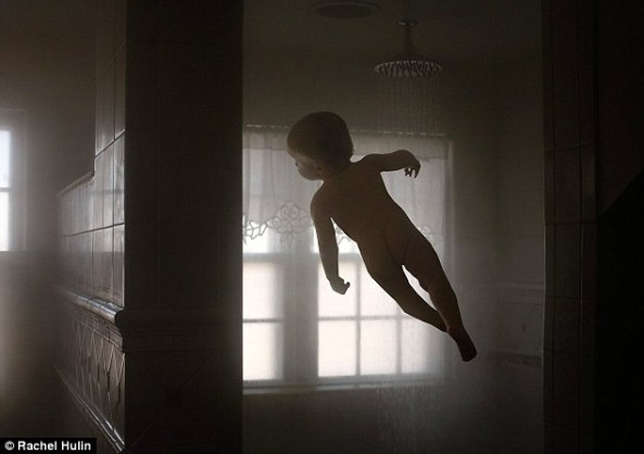 Child Floating in the air