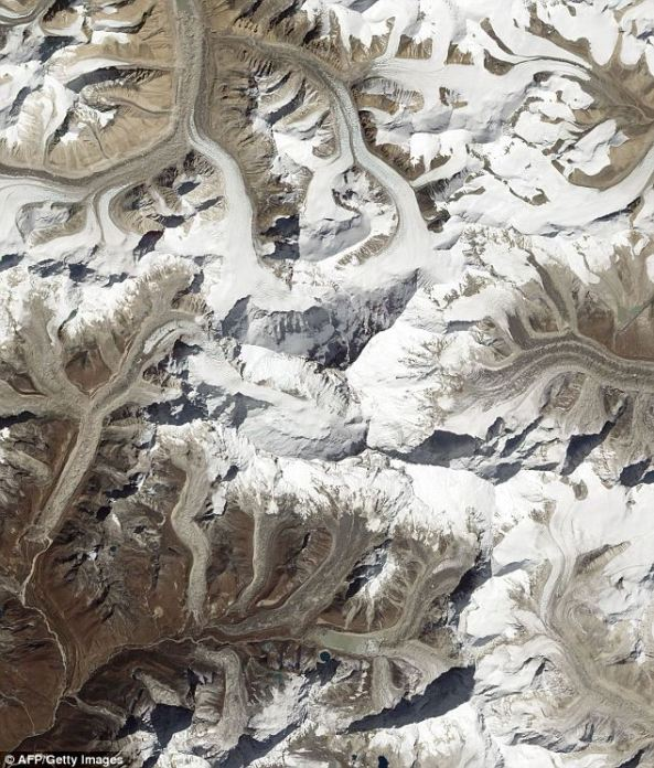Mount Everest captured from space