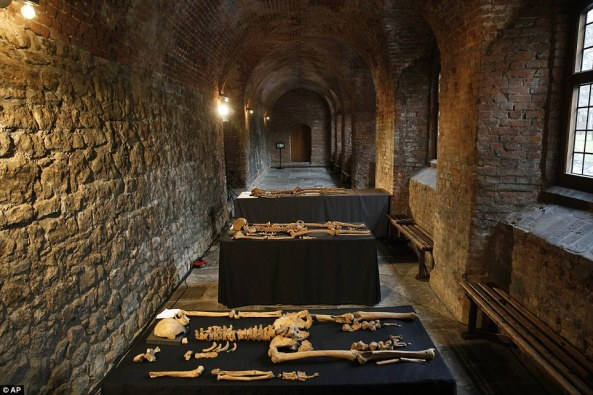 The remains also revealed that one of the bodies could have been that of a monk - after showing signs of vegetarianism in later life, which is something a Carthusian monk would have done during the 14th century