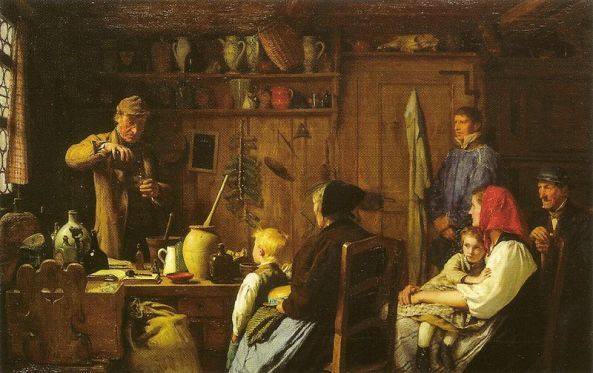 Albert Anker. The Quack. 1879