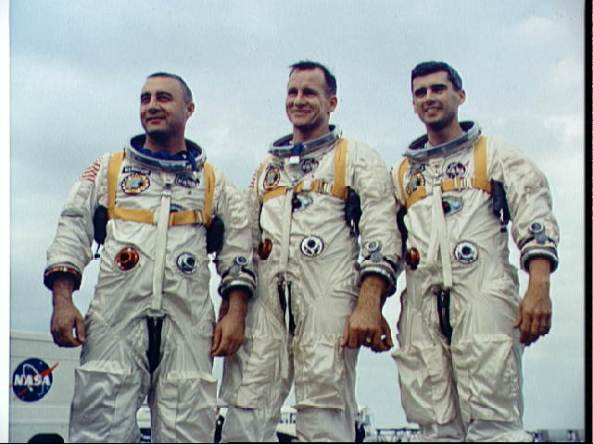 Apollo 1 Crew: Gus Grissom, Ed White, and Roger Chaffee