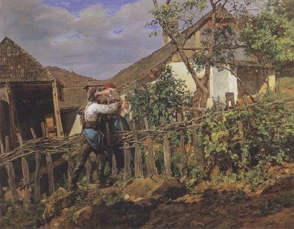 Ferdinand Georg Waldmüller. The Neighbors. 1859