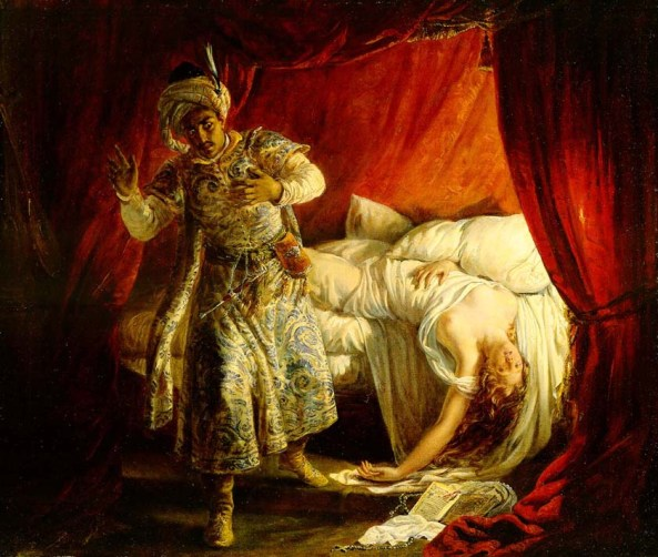 Alexandre Marie Colin. Othello and Desdemona