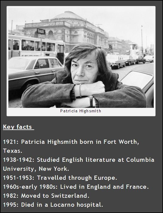 Patricia Highsmith Key Facts