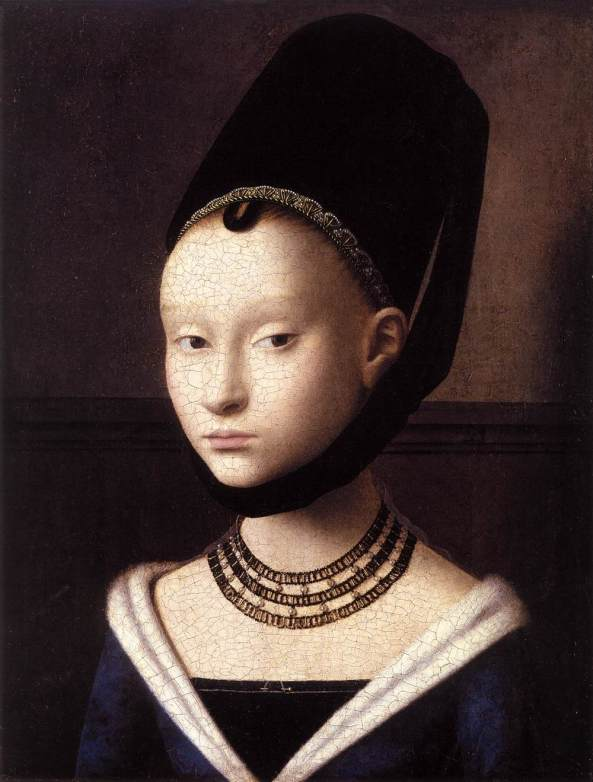Petrus Christus. Portrait of a Young Girl. c. 1470.