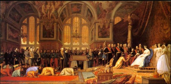 Jean-Leon Gerome. The Reception of Siamese Ambassadors by Emperor Napoleon III (1808-73) at the Palace of Fontainebleau 27 June 1861