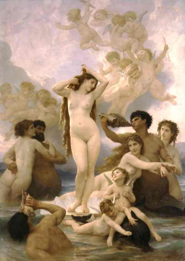 William Bouguereau. Birth of Venus.  1879