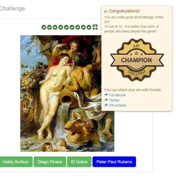 art challenge champion
