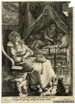 This 1595 engraving by Jan Saenredam is evidence of nightly activities