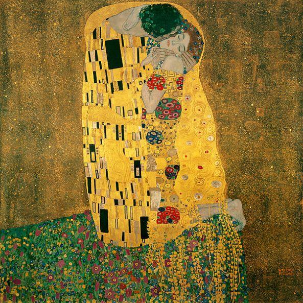 The Kiss. 1907–08, oil on canvas, Österreichische Galerie Belvedere, Vienna