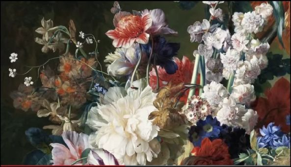 """""""Bouquet of Flowers in an Urn"""" by Jan van Huysum, from 1724."""