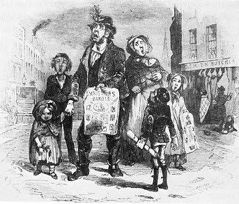 Ballad monger and family 1847
