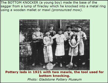 Saggar makers' bottom knockers.