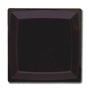 Valentina Gurarie. Black Suprematic Square -- Max Square Black Dinner Plate 27cm. Malevich-inspired entree. Serves up to 12 art lovers in one sitting (2014)