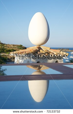 stock-photo-public-outdoor-sculptures-of-dali-in-portlligat-village-at-girona-catalonia-spain-72133732