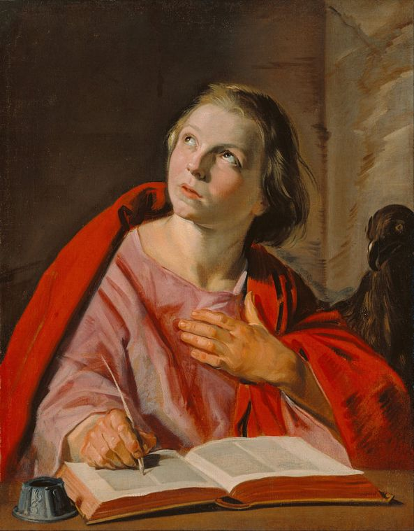 Saint John the Evangelist, painted about 1625 - 1628. oil on canvas. Currently atThe J. Paul Getty Museum