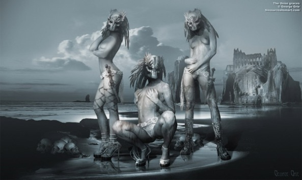 The three graces, Goth mode style Modern art culture and subculture influence heavily our perception of female beauty. If you check the art history, you would notice how dramatic this change could be.