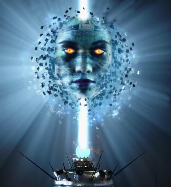 Cyberhead-on-lightstalk.-Artificial-intelligence.