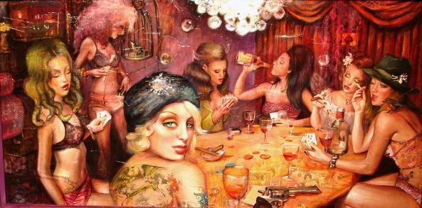 Natalia Fabia. Hookers playing poker.