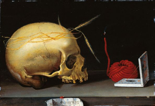 German master c. 1620, Vanitas Still Life with Skull, Wax Jack and Pocket Sundial, Städel Museum, Frankfurt am Main
