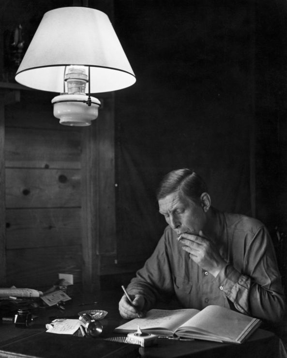 That unmistakable voice: grey, shambling and covered in ash, Auden the man found it was the effect of his words that mattered. Photo: Jerry Cooke/Corbis