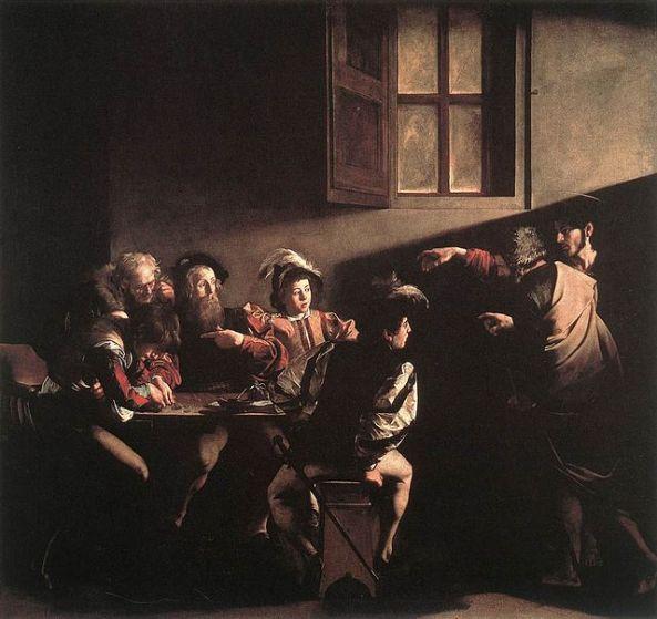 Michelangelo Merisi da Caravaggio (1571-1610). The Calling of St. Matthew, c.1598-1601 (oil on panel)