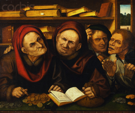 Quentin Massys. Suppliant Peasants In The Office Of Two Tax Collectors.