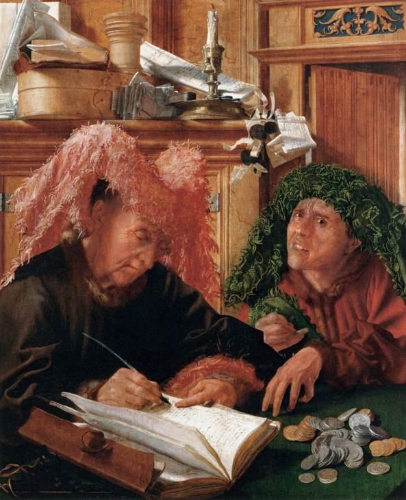 Marinus van REYMERSWAELE. The Tax Collectors 1540s Oil on panel, 94 x 77 cm Louvre, Paris