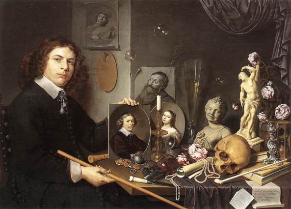 David Bailly (1584–1657) Self-portrait With Vanitas Symbols, dated 1651