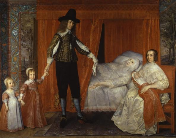 The Saltonstall Family c.1636-7 by David Des Granges 1611 or 13-?1675
