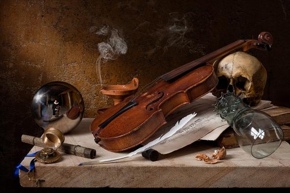 Musical Vanitas - after Pieter Claesz