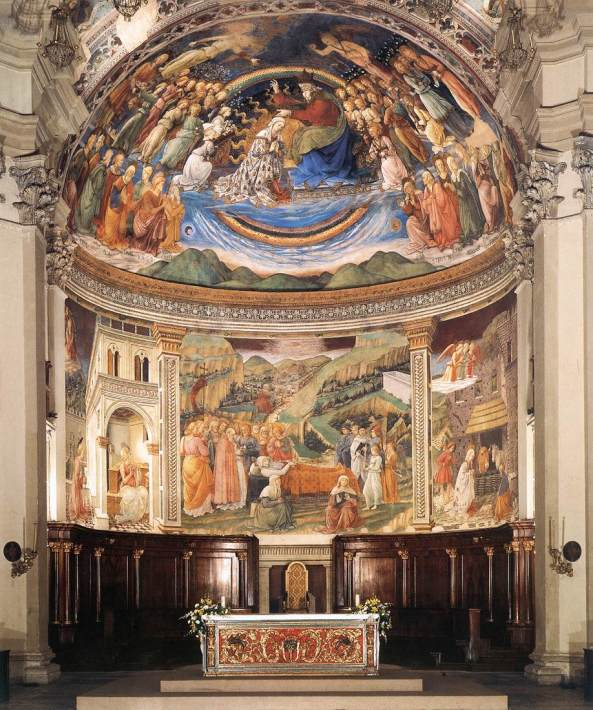 LIPPI, Fra Filippo View of the Apse of the Cathedral 1467-69 Fresco Cathedral, Spoleto