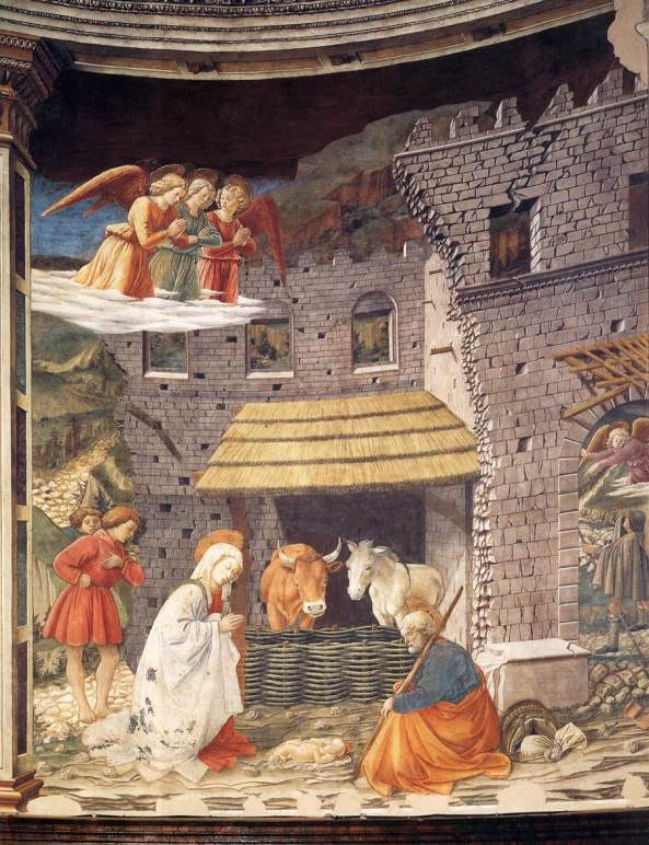 LIPPI, Fra Filippo Nativity 1467-69 Fresco Duomo, Spoleto