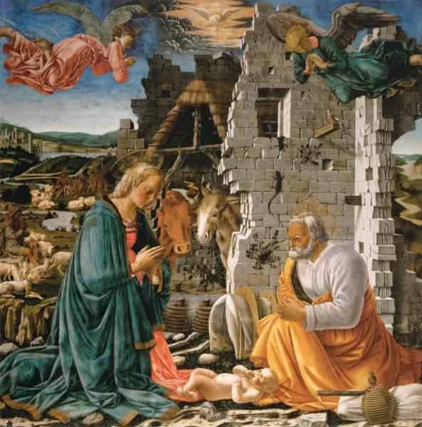 DIAMANTE, Fra The Nativity 1465-70 Panel, 166 x 166 cm Musée du Louvre, Paris